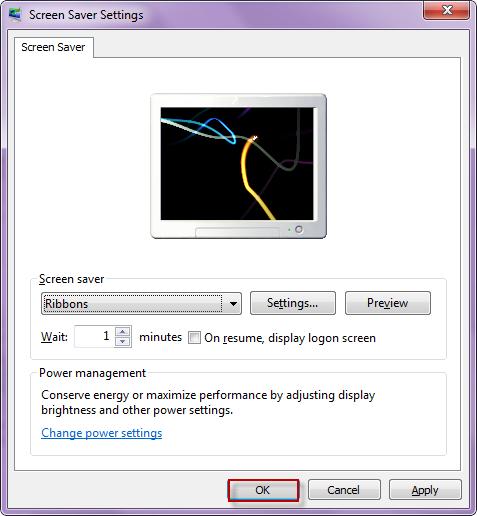 Screen Saver Settings