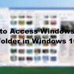 WindowsApps folder