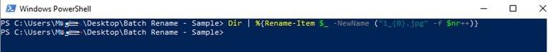 batch rename files on Windows