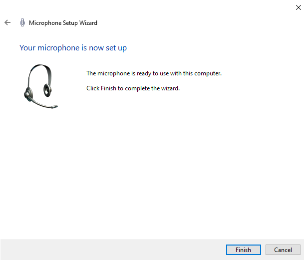 set up an external mic in windows 10